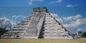 The pyramid at Chichen Itza, one of the new 7th Wonders of the World