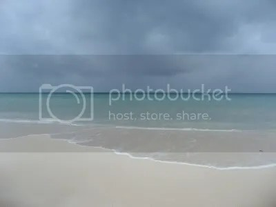 The Caribbean Sea at Playa del Carmen, as Hurricane Dean approaches