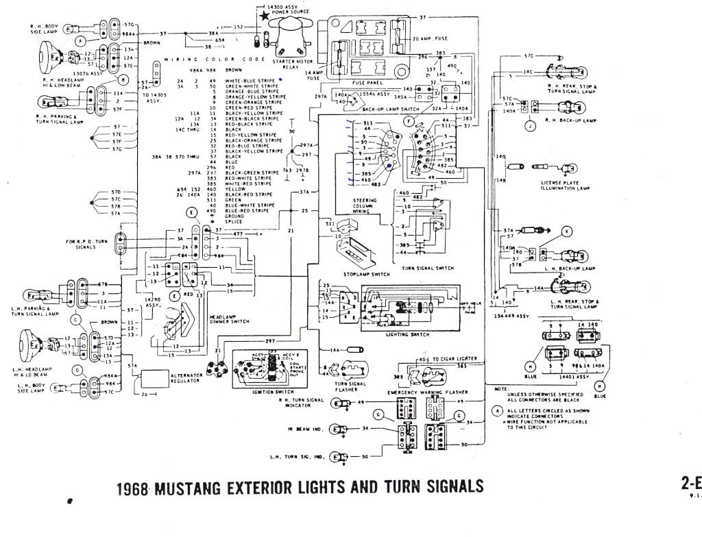 Schema Electrique Des Clignotants Pour La Mustang