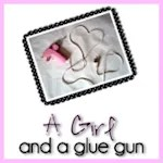A girl and a glue gun