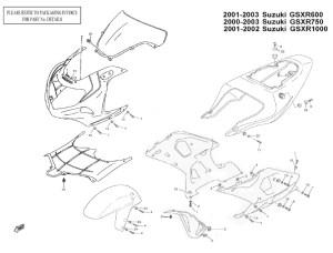 Complete Fairing Bolt Kit Body Stainless for 20012003