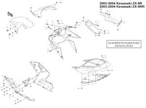 Fairing Bolt Kit Body Bolts Washers Stainless for Kawasaki