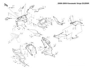 Complete Fairing Bolt Kit Body Screws Stainless for
