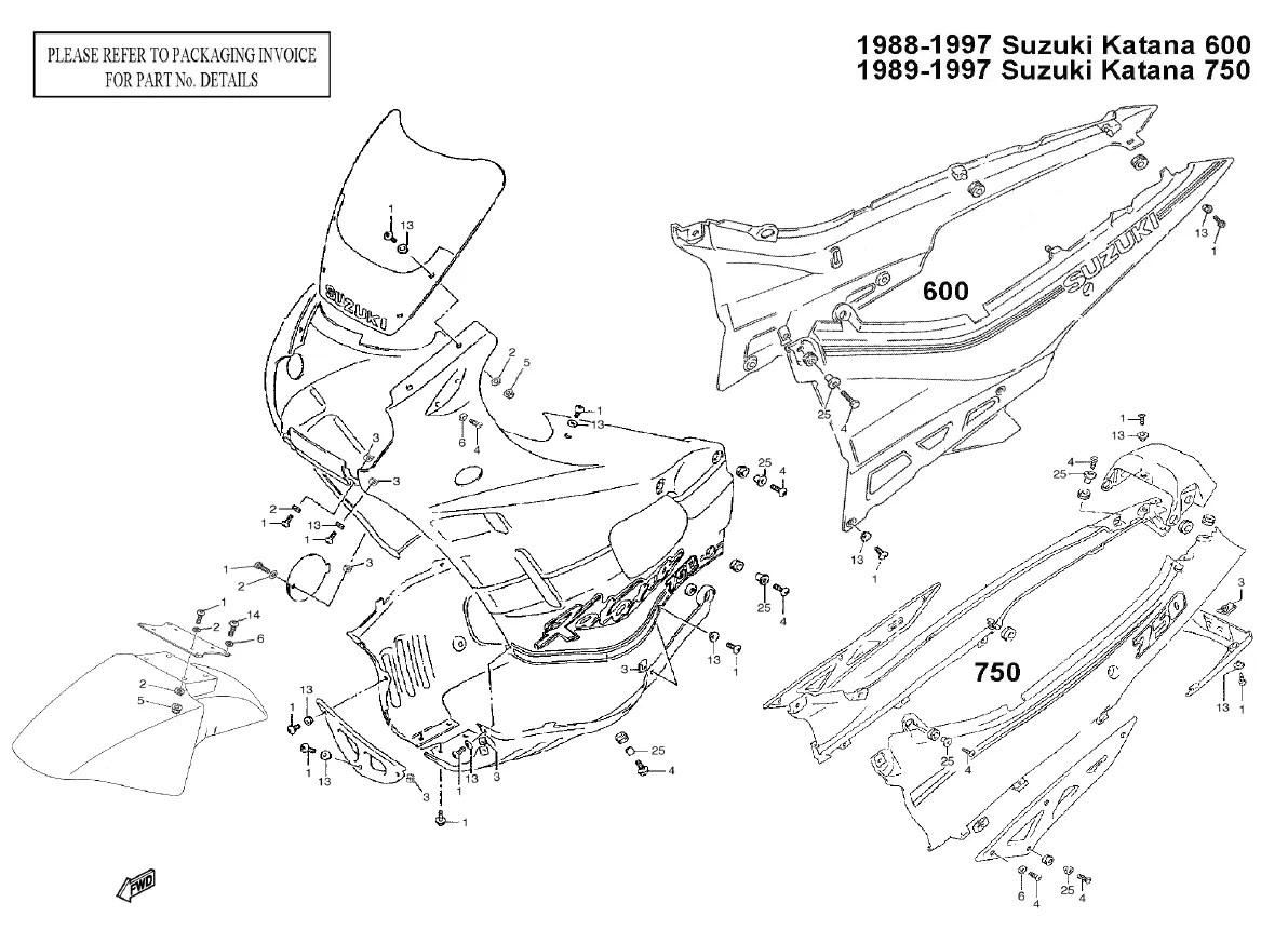 Complete Black Fairing Bolt Kit Body Screws For 88 97