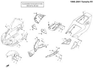 Complete Black Fairing Bolt Kit Body Screws for 19982001