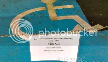 Hak golongan OKU disediakan parking khas