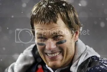 Brady, simultaneously happy and embarrassed for the Titans.  Seriously, this is a look of incredulity/cringing/glee.
