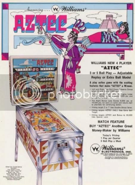 AztecPinball-ArcadeFlyerArchive 1