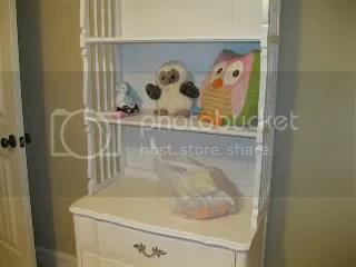 The hutch and chest - and our owl collection