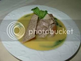Sopa de Grão e Espinafres com Chispe