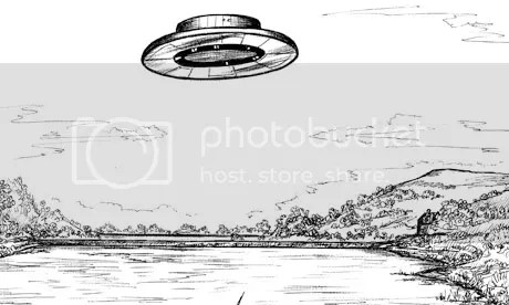 flying saucer sketch