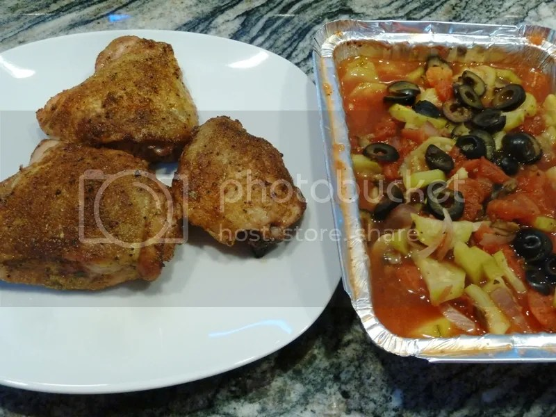Roast your Chicken Thighs to an internal temperature of 180ºF. Rest the Chicken Thighs under a foil tent for 15 minutes before serving. & Low Carb Roasted Chicken Thighs u0026 Sides - Smokinu0027 Peteu0027s BBQ