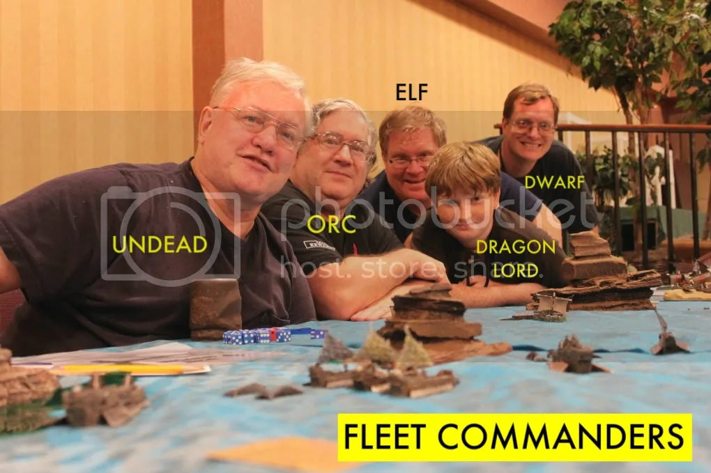 The Various Fleet Commanders Celebrate