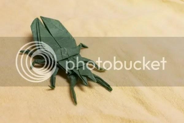 Origami ground beetle