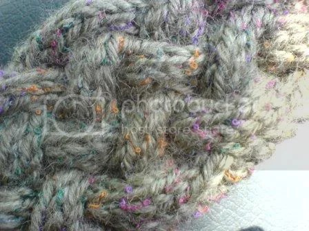 close up of braided tweedy cables