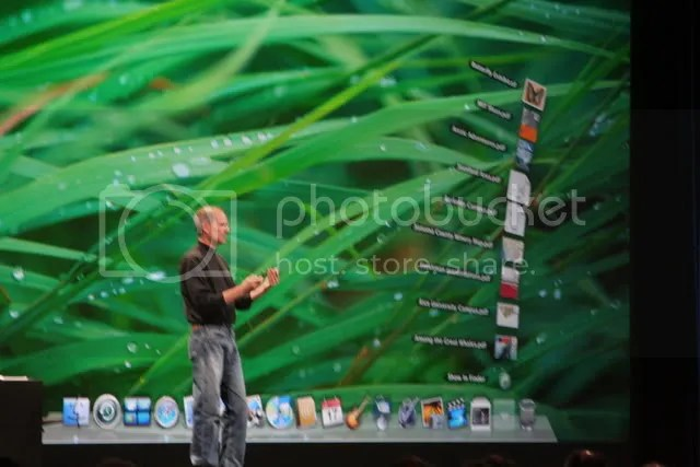 Steve Jobs Showing off New Dock