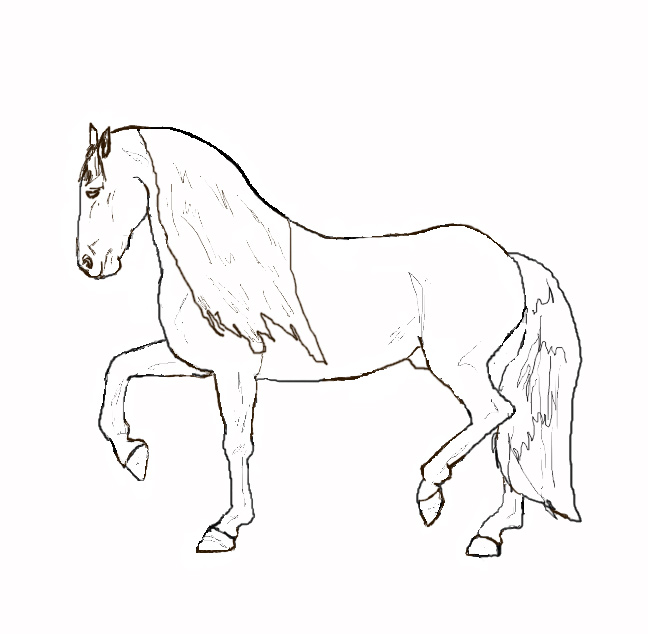 se and baby horse colouring pages