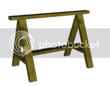 Wooden Sawhorse Plans