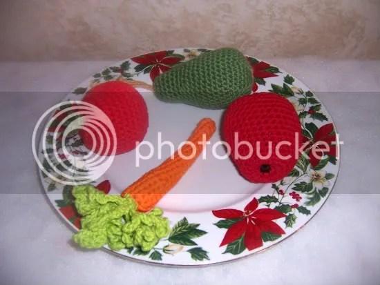 crochet fruits and veggies