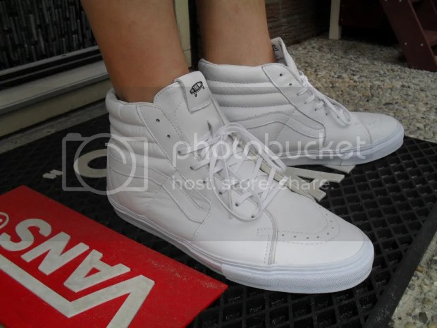 erwin - Vault Leather Sk8-Hi LX White