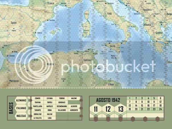 Mapa operacional mediterraneo