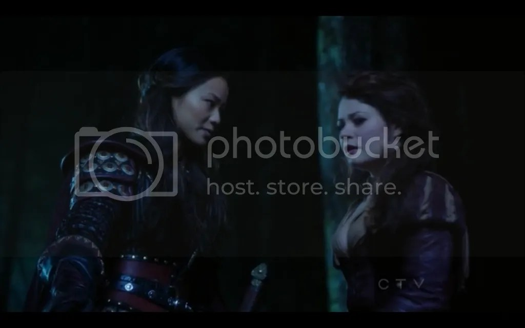 Once Upon a Time, Mulan and Belle. Screencap by Once Upon a Fan.