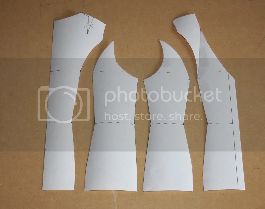 Vest pattern draft stage 3