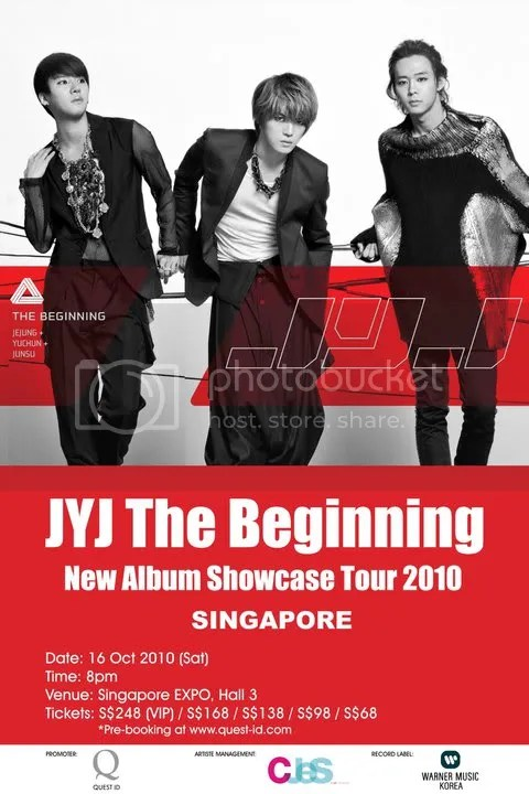 JYJ The Beginning Showcase Tour 2010 Singapore Poster