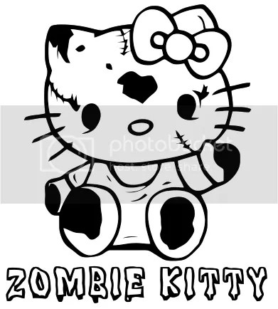 Hello Kitty Zombie Halloween Coloring Pages Hello Hawaii Colouring