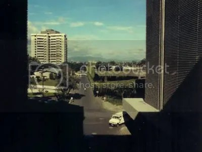 View of SM Makati and Makati Commercial Complex from Quad Carpark circa 1970s.