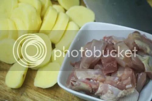 potato and chicken