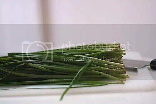 chives and tofu