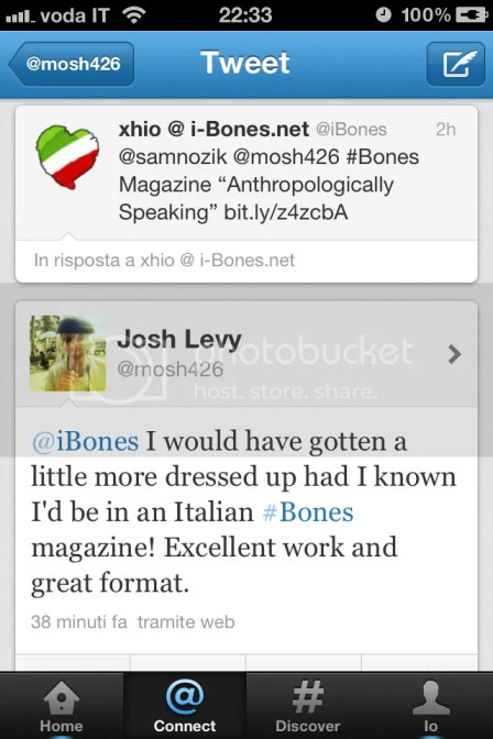 Josh Levy a proposito di Anthropologically Speaking
