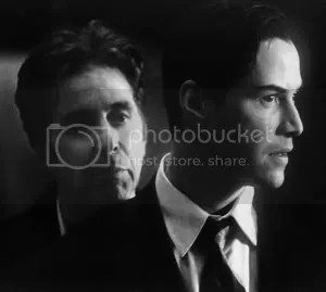 Kevin Lomax (Keanu Reeves) and John Milton (Al Pacino)