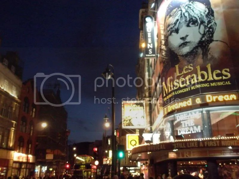 The West End at night.