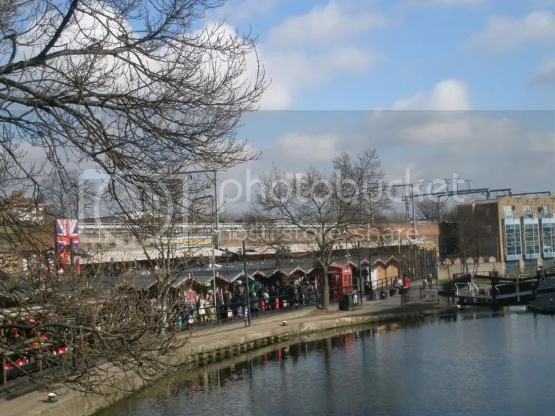 Camden Market from the bridge.