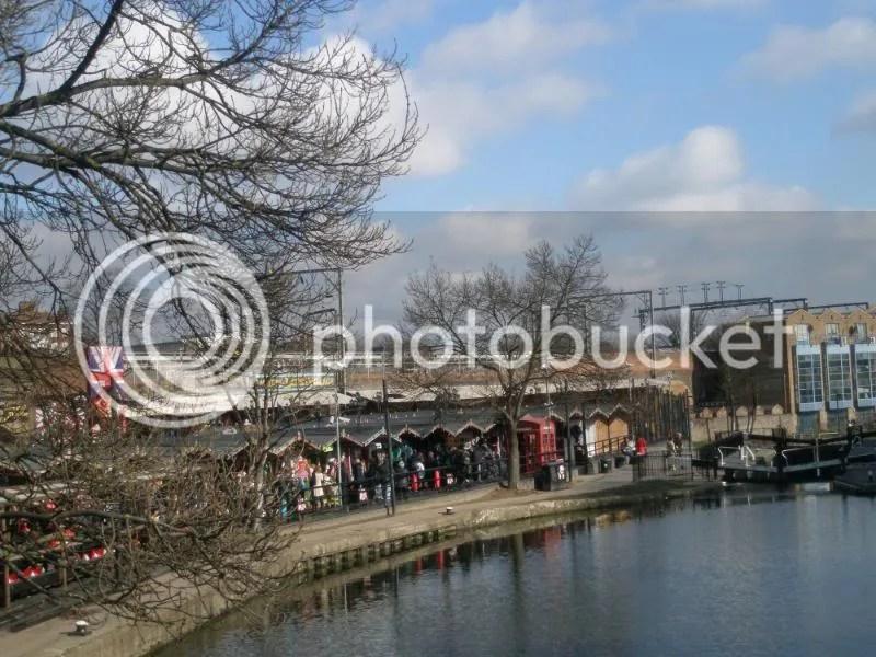 Camden Market from the bridge.