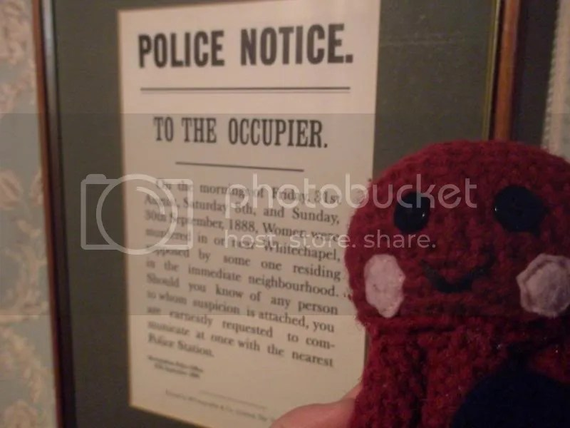 Jack the Ripper notice.