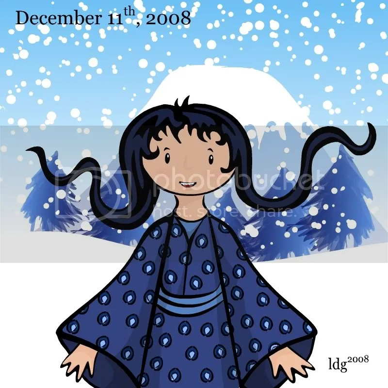 Winter Blue Kimono