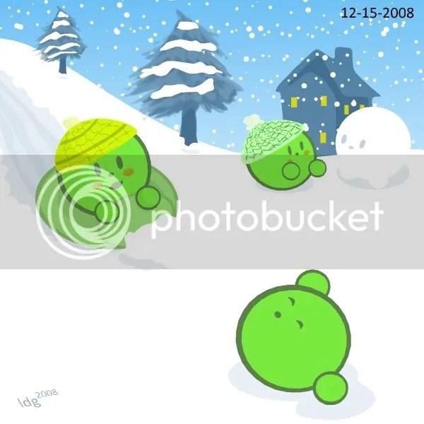 Snow Peas at Play