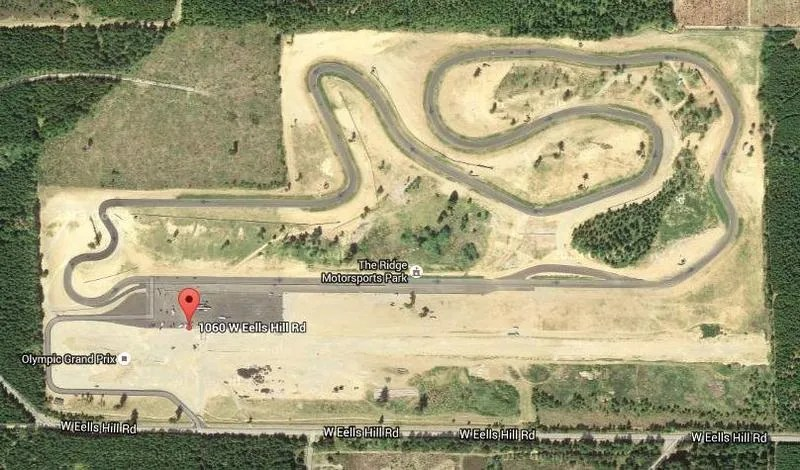 Bird's eye view of the race track