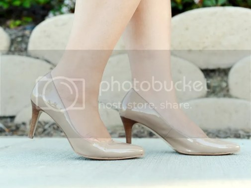 Curvy Girl Chic Plus Size Fashion Blog Neiman Marcus Last Call Cole Haan Nude Patent Pumps