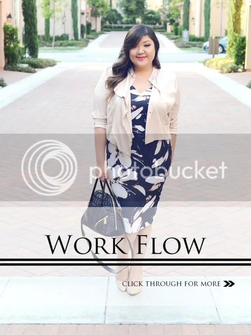 Curvy Girl Chic Plus Size Fashion Blog Ashley Graham Dressbarn Dress