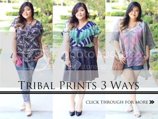 Curvy Girl Chic Target Ava & Viv Tribal Print Outfits
