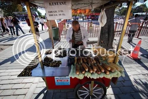 Istanbul Street Vendor Chestnuts Corn 1