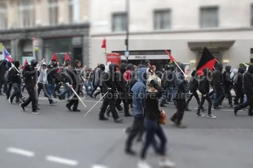 Conduit Street Cuts Protest Riot 4