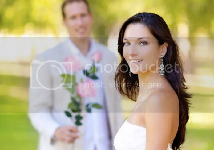 Bride and Groom beautiful smile