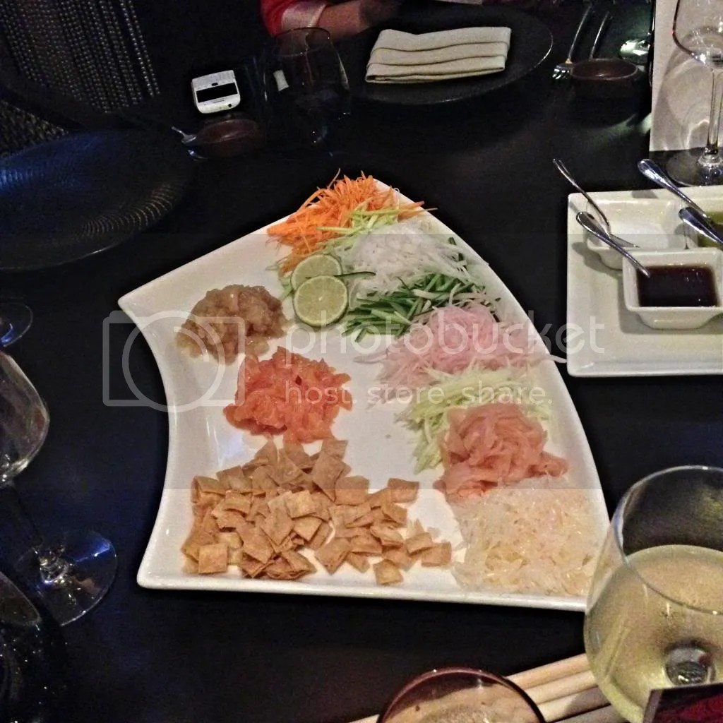Yu Sheng at the Kris Restaurant- the higher you toss, the more luck you get! You are allowed to make a mess!