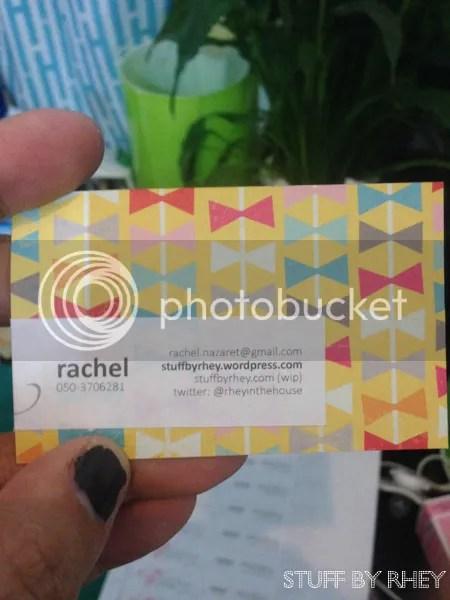 scrapbook paper business card
