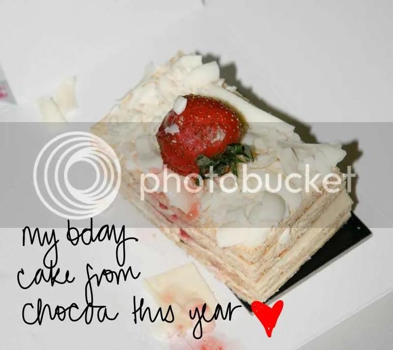 bday cake from chocoa